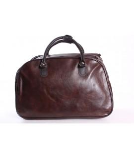 Cestovná taška (C3524) - tmavohnedá (41x26x22 cm)