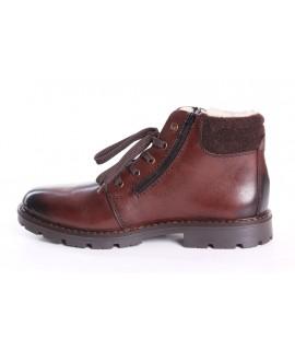 Pánska kožená zateplená obuv RIEKER 32121-25 - hnedá