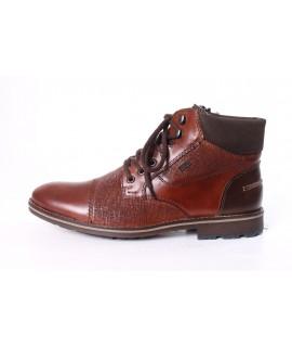 Pánska kožená zateplená obuv RIEKER (F5532-27) - hnedá