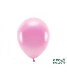 Eko metalizované balóny - 30cm, 10ks Ružová