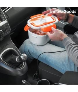 Elektrická krabička na jedlo do auta InnovaGoods 40W 12 V bielo-oranžová