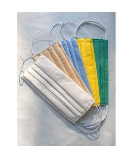 Farebné ochranné rúško dvojvrstvové 3ks - Detské Modrá
