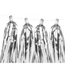 Girlanda - Strapcová 1,5m Strieborná
