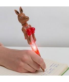 Guľôčkové pero s LED - Klokan boxer