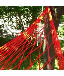 Hamak Jednoduchá hojdacia sieť - šnúrkova 200x80cm Červená