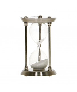 Presýpacie hodiny MSK137 - strieborné 30 min. (v. 16 cm, p. 10 cm)