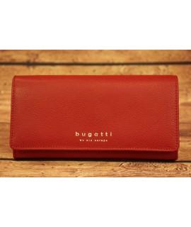 Dámska kožená peňaženka Bugatti 49367716 (19 x 2 x 10 cm)  - červená