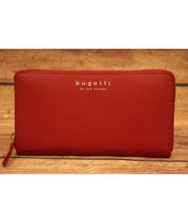Dámska kožená peňaženka Bugatti 49367816 (20 x 2,5 x 10,5 cm)  - červená