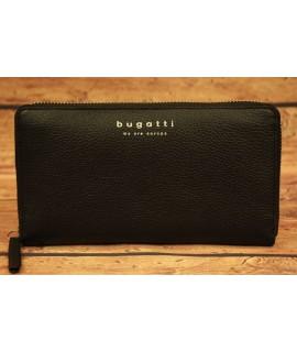 Dámska kožená peňaženka Bugatti 49367801 (20 x 2,5 x 10,5 cm)  - čierna