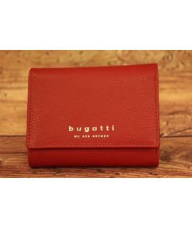 Dámska kožená peňaženka medium Bugatti 49367916 (10 x 1,5 x 9 cm) - červená