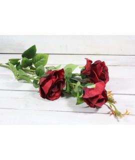 Umelá kytica RUŽÍ - bordová (v. 103 cm)