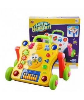 Interaktívny hrajúci vozík žltý