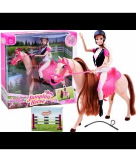Bábika - Jazdkyňa s koníkom