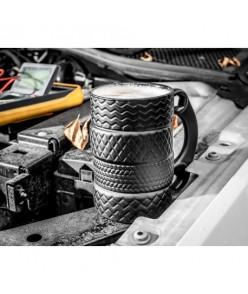 Keramický hrnček - pneumatiky s kľúčom 450ml