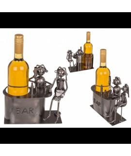 Kovový stojan na víno - barman