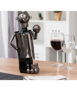 Kovový stojan na víno Bowling