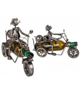 Kovový stojan na víno motorkár 2