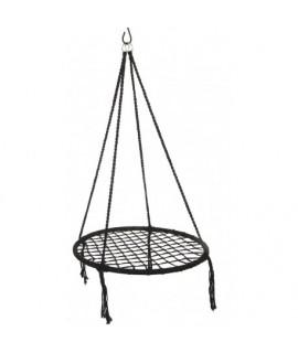 Kruhová hojdačka LENKA - 80 cm čierna