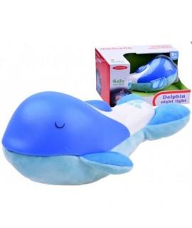 Lampička hrajúci delfín