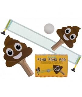 Mini pingpongová súprava - poop