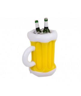 Nafukovací chladič nápojov v tvare krígľa