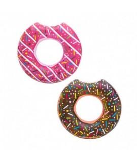 Nafukovací kruh Donut - 120cm Ružová