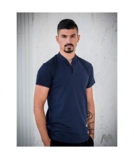Pánske polo tričko z BIO bavlny 04 tmavomodré VS-PO 1903 S