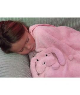 Plyšová deka pre deti so zajačikom
