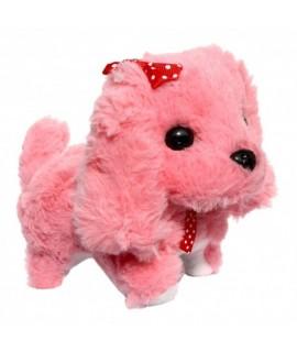 Plyšový interaktívny psík - 13x17 cm Ružová