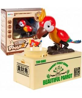 Pokladnička hladný papagáj