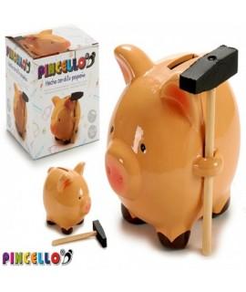 Pokladnička Prasiatko s kladivkom Mini Pincello