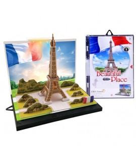 Puzzle 3D Eiffelova veža 23ks + LED svetlo