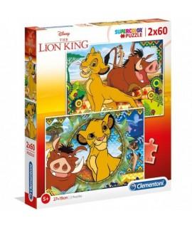Puzzle - Leví kráľ 2 x 60 dielikov