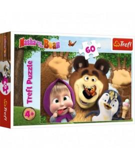 Puzzle Máša a medveď 60 dielikov
