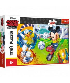 Puzzle Mickey Mouse & Friends - football - 100 dielikov