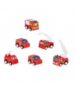 Sada hasičských áut (6 ks)