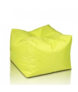 Sedací vak ECOPUF - CUBO - polyester NC1 - Svetlo zelená