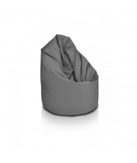 Sedací vak ECOPUF - MEGA SAKO - polyester NS NC13 - Svetlo sivá