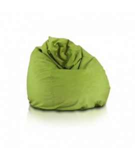 Sedací vak ECOPUF - FUZZY - polyestér NC1 - Svetlo zelená