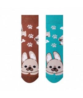 Veselé ponožky Hesty - Buldog detské 25-29
