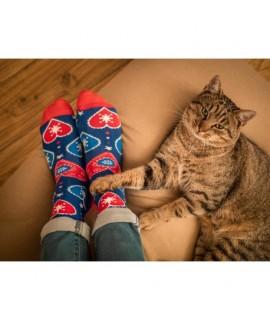 Veselé ponožky HESTY - Ľudové srdce 43-46