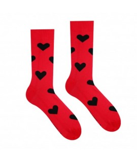 Veselé ponožky HESTY - Srdiečko červené 35-38