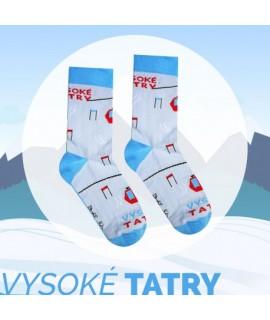 Veselé ponožky HESTY Vysoké Tatry – Lanovka