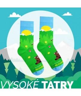 Veselé ponožky HESTY Vysoké Tatry – Medveď 35-38