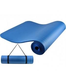 YB2203 Fitness podložka 1cm s ramienkom Modrá