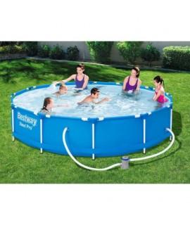 Záhradný bazén Steel Pro s kovovou konštrukciou a kartušovou filtráciou Bestway (366x76cm)
