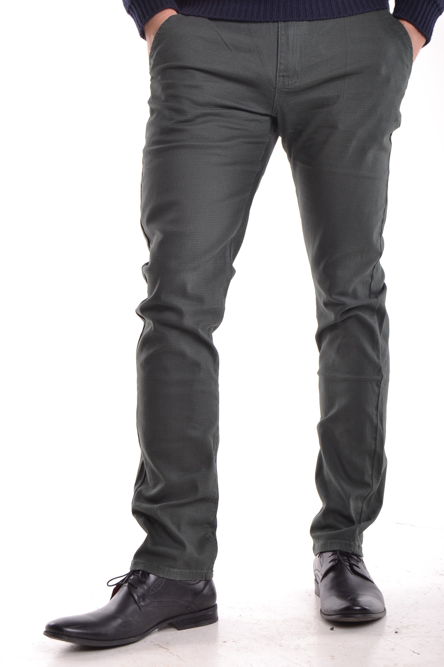 """Pánske elastické nohavice vzorované """"KA 9360-53"""" - zelené P69"""