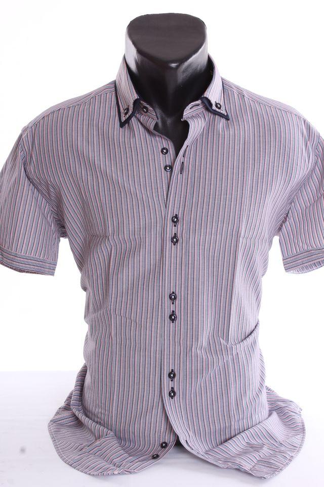 Pánska košeľa pásikavá - modrá