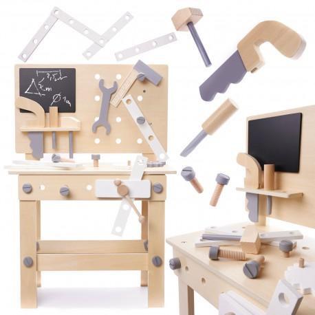 Detský drevený pracovný stôl BLACK