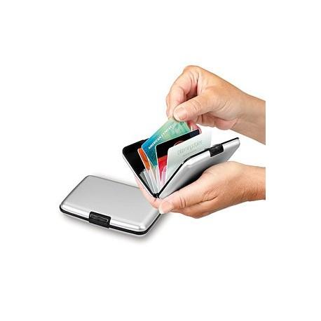 Puzdro na kreditné karty a vizitky Sivá